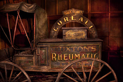Photograph - Pharmacy - The Rheumatic Cure Wagon  by Mike Savad