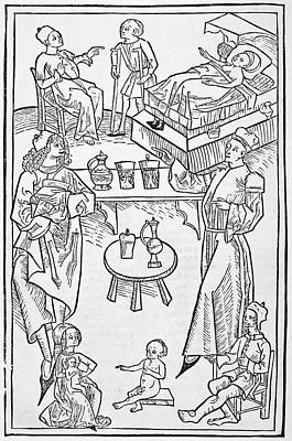 Pharmacy Scenes, 16th Century Art Print by