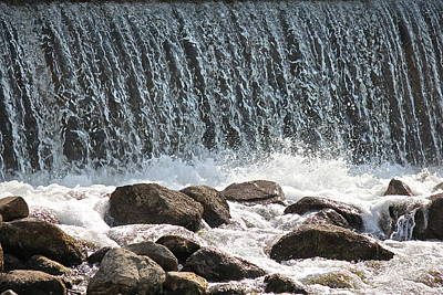 Art Print featuring the photograph Phelps Mill Dam by Penny Meyers
