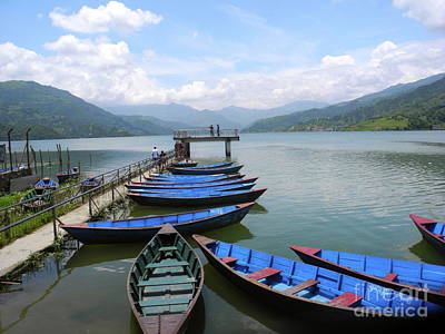 Photograph - Phewa Tal Lake Pokhara Nepal by Pauline Margarone