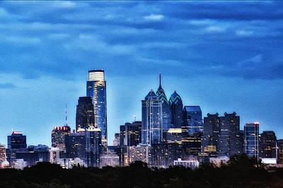 Philadelphia At Night Art Print by Bill Cannon