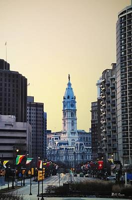 Philadelphia Cityhall At Dawn Art Print by Bill Cannon