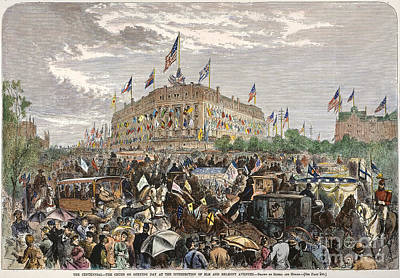 Philadelphia Expo, 1876 Art Print by Granger