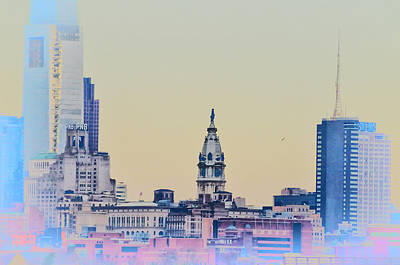 City Hall Digital Art - Philadelphia From South Camden by Bill Cannon