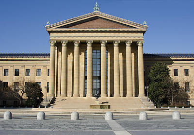 Benjamin Franklin Parkway Photograph - Philadelphia Museum Of Art - Courtyard by Brendan Reals