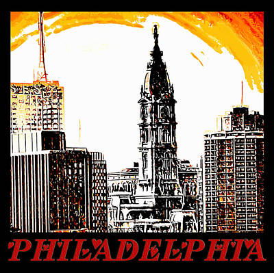 Philadelphia Poster Art Print by Bill Cannon
