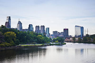 East River Drive Photograph - Philadelphia View From The Girard Avenue Bridge by Bill Cannon