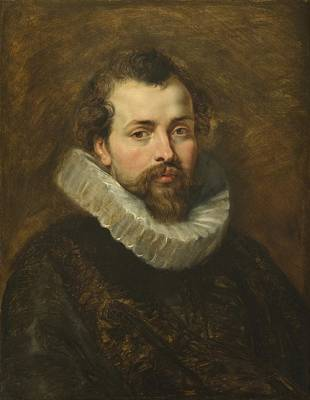 Ruff Painting - Philippe Rubens - The Artist's Brother by Peter Paul Rubens