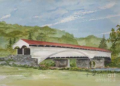 Painting - Philippi Covered Bridge  by Nancy Patterson