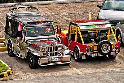 Photograph - Philippine Jeeps by Christopher Holmes
