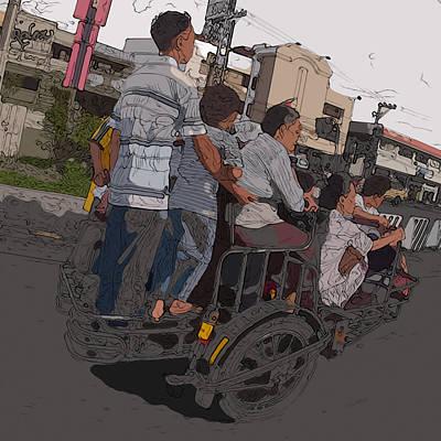 Painting - Philippines 5534 Pamilya by Rolf Bertram