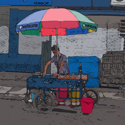 Painting - Philippines 705 Street Food by Rolf Bertram