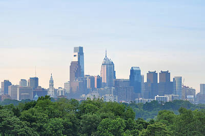 Philadelphia Skyline Photograph - Philly Skyline by Bill Cannon