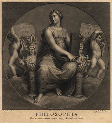 Raphael Painting - Philosophia by Raphael Morghen