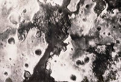 Phobos 2 Spacecraft Photo Of The Surface Of Mars Art Print