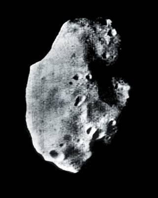 Phobos, Martian Moon, Satellite Image Art Print