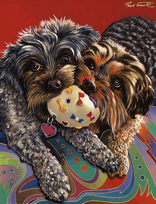 Abstract Realism Painting - Phoebe And Isabelle by Bob Coonts