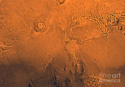 Tharsis Photograph - Phoenicis Lacus Region Of Mars by Stocktrek Images