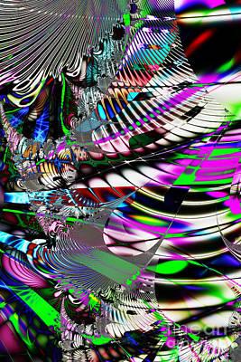Fractal Geometry Digital Art - Phoenix Rising . S3.s9 by Wingsdomain Art and Photography