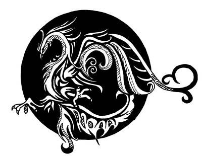Drawing - Phoenix by Scarlett Royal
