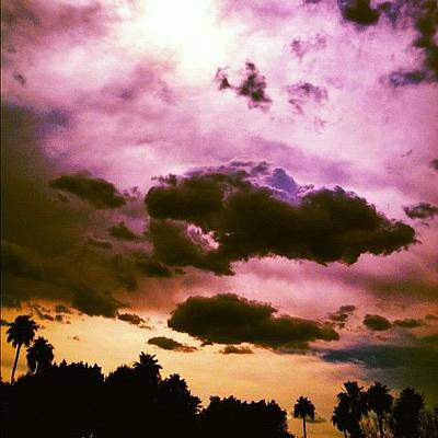 Abstract Landscape Wall Art - Photograph - Phoenix #sky #sunset #clouds #abstract by Eric Greer
