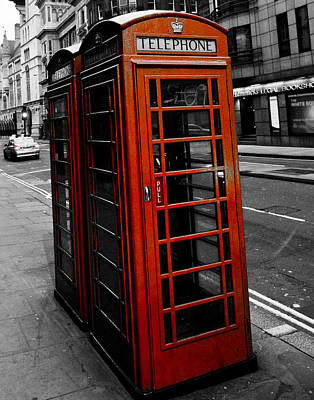 Photograph - Phone Booth by Mickey Clausen