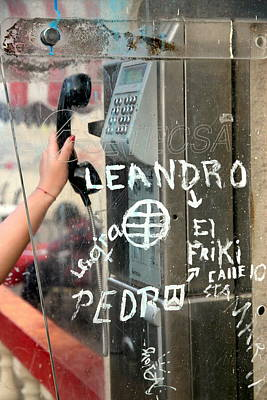Photograph - Phone Booth by Valentino Visentini