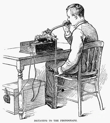 Dictaphones Photograph - Phonograph: Dictating by Granger