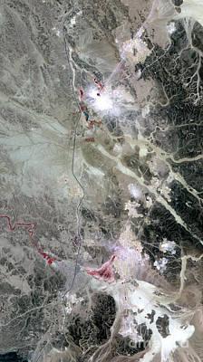 Phosphate Mines, Jordan Art Print by Nasa