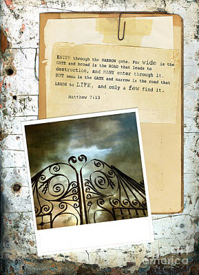 Photograph - Photo Of A Gate With A Bible Verse by Jill Battaglia