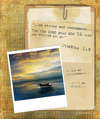Photograph - Photo Of Boat On The Sea With Bible Verse by Jill Battaglia