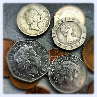 Bronze Wall Art - Photograph - #photoadayaugust #coin #gold #silver by Baz Twyman