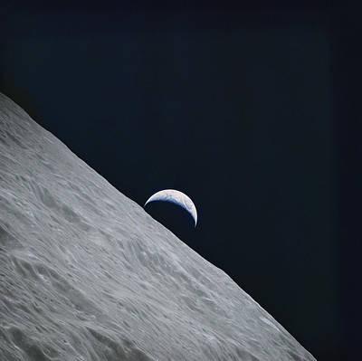 Photograph Of The Earth Taken By Apollo Art Print