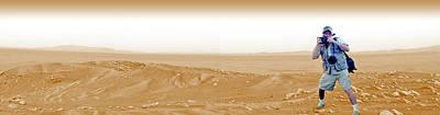 Photographer On Mars Art Print