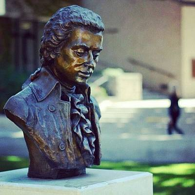 Mozart Photograph - #photooftheday , #iphone5 , #amadeus by Tony Martinez