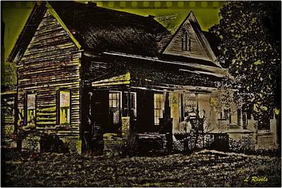 Photos In An Attic - Homestead Art Print by Leslie Revels Andrews