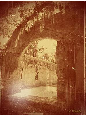 Photos In An Attic - The Ruins Art Print by Leslie Revels Andrews