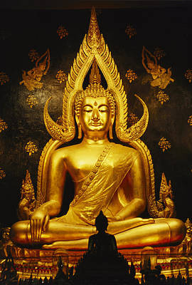 Religious Characters And Scenes Photograph - Phra Phuttha Chinnarat Buddha by Martin Gray