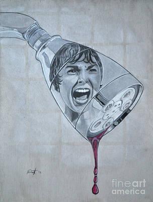 Drawing - Phsycho by Joe Dragt