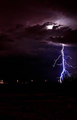 Phx Night Lightning 8 Print by Kenny Jalet