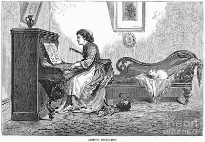 Pianist, 1876 Art Print by Granger