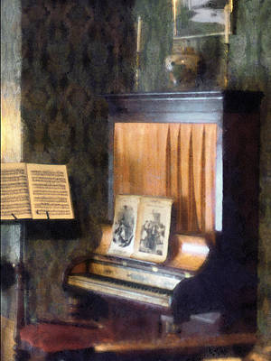 Parlor Photograph - Piano And Sheet Music On Stand by Susan Savad