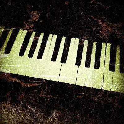 Piano Wall Art - Photograph - Piano ...ebony & Ivory ..harmony by R Ra