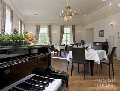 Piano In A Upscale Dining Room Art Print by Jaak Nilson