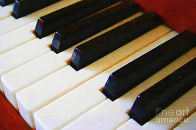 Photograph - Piano Keys . V2 by Wingsdomain Art and Photography