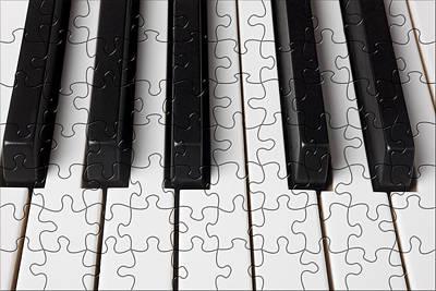 Piano Keys Jigsaw Art Print