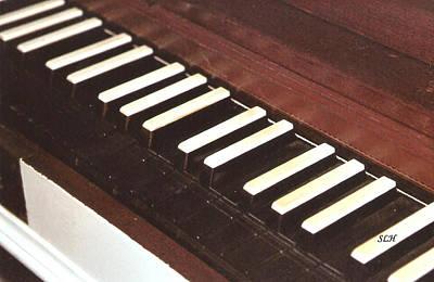 Photograph - Piano Keys by Lee Hartsell