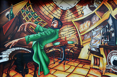 Piano Man 2 Art Print by Bob Christopher