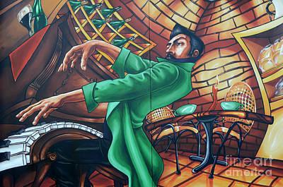 Piano Man 4 Art Print by Bob Christopher