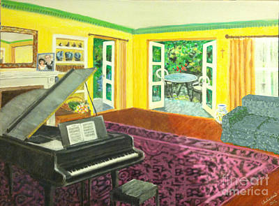 Painting - Piano Room Variation I by Charlie Harris